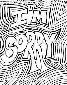 Apology Coloring Pages I M Sorry Coloring Page Digital Download 8 5x11 Pdf