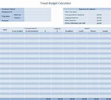 Travel Budget Spreadsheet Travel Budget Template 187 Template Haven