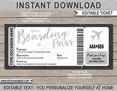 Airline Ticket Template Free Printable Boarding Pass Ticket Template Fake Plane