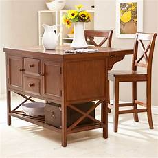 The Randall Portable Kitchen Island With Optional Stools To It Hton Kitchen Island With Optional