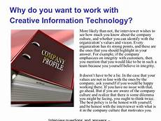 Interview Questions For Information Technology Creative Information Technology Interview Questions And