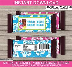 Hershey Candy Bar Wrappers Luau Hershey Candy Bar Wrappers Personalized Candy Bars