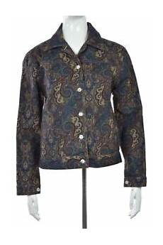 Norm Thompson Size Chart Norm Thompson Womens Jacket Size S Blue Printed Long