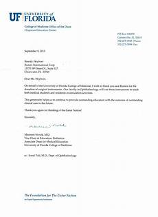 Thank You Letter For Donation Rumex Donations