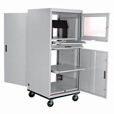sandusky mobile computer cabinet for