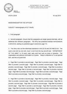 Memorandum Format Template How To Write An Army Memorandum For Record