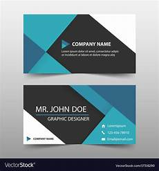 Blank Name Card Template Blue Corporate Business Card Name Card Template Vector Image