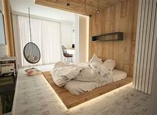 Schlafzimmer Indirekte Beleuchtung by Indirekte Beleuchtung Unter Dem Podest Aus Holz Home