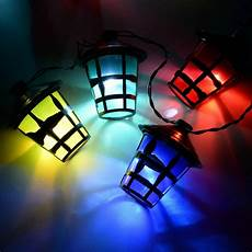 Coloured Outdoor Lantern Lights 10 Led Coloured Party Lantern Garden Fairy Lights