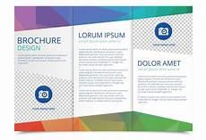 Tri Fold Brochure Powerpoint Template Tri Fold Brochure Vector Template Download Free Vectors