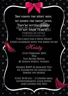 Bachelorette Party With Vip Pass Invitation