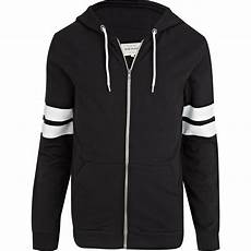 Black And White Designer Hoodie River Island Black And White Stripe Sleeve Hoodie In Black