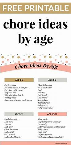List Of House Chores What Do Kids Learn By Doing Chores A Chore Ideas By Age