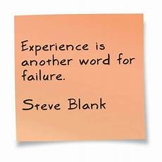 Another Word For Customer Experience Experience Is Another Word For Failure Astrolabe Quote