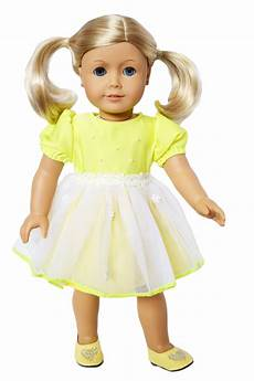 clothes for dolls my s yellow easter dress for american dolls