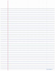 College Ruled Paper Template College Ruled Notebook Paper Templates At