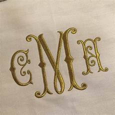 monogram embroidery font embroidery monogram
