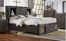 rustic king rotating storage bedroom set 3pcs suvcl5133 a