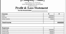 Profit And Loss Statements For Dummies The Crime And Blog Profit And Loss Statements For