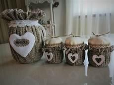 candele economiche set cucina barattoli in vetro rivestiti stile shabby