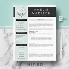 Modern Professional Resume Template Professional Amp Modern Resume Template For Ms Word Quot Amelie