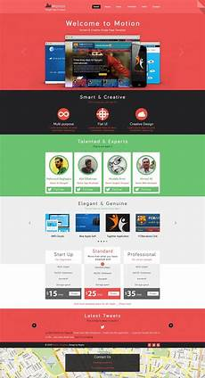 Single Page Website Templates Motion Single Page Template Psd Templates Web Design