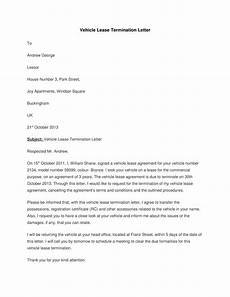 Lease Termination Template Vehicle Lease Termination Letter Templates At