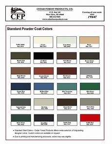 Powder Coat Colour Chart Nz Cedar Forest Products American Athletix American Athletix