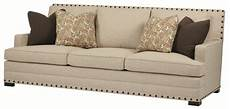 Nailhead Trim Sofa 3d Image by Bernhardt Cantor Sofa With Nail Trim And Low Set Arms