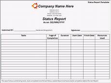 Daily Work Status Report Format Status Report Template Free Printable Word Templates