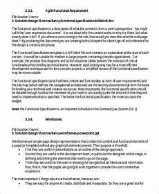 Application Design Document Sample Free 6 Functional Requirement Document Samples In Ms Word