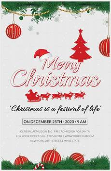 Chrismas Posters Merry Christmas Poster Template In Adobe Photoshop