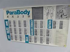 Parabody Home Gym Workout Chart Transitional Design Online Auctions Parabody Ex350 Home Gym