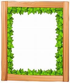 Green Border Design A Border Design Made Of Wood And Green Leaves Download