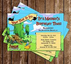 Adventure Time Party Invitations Novel Concept Designs Adventure Time Birthday Invitation