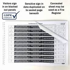 Visitor Signing In Book Data Protection Gdpr Compliant Visitor Book Hidden Names