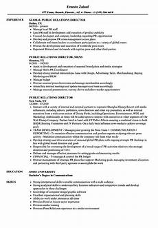 Public Relation Director Resume Public Relations Director Resume Samples Velvet Jobs