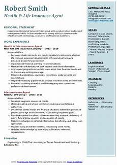 Insurance Agent Resumes Life Insurance Agent Resume Samples Qwikresume
