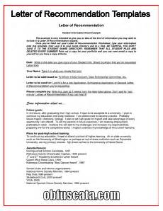 Letter Or Recommendation Template Best Letter Of Recommendation Templates