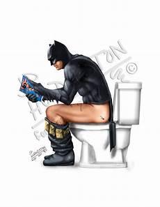 Batman Potty Batman Toilet Batman Pooping Batman Bathroom Superhero