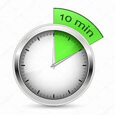 10 Mintue Timer 10 Minutes Timer Vector Illustration Stock Vector