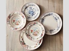 Vintage Floral Dinner Plate, Set of 4   Pottery Barn