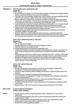 Sample Resume Of Admin Executive Executive Administrator Resume Samples Velvet Jobs