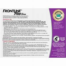 Vetguard Plus Dosage Chart Frontline Plus Dosage Chart By Weight Blog Dandk