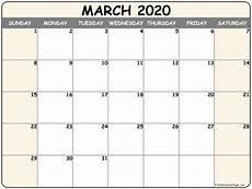 March 2020 Calendar Printable March 2020 Blank Calendar Templates