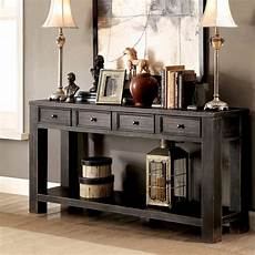 Sofa End Tables 3d Image by Oak Entryway Table Hallway 4 Drawer Sofa Rustic