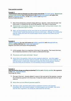 Essay Question Examples Examples Of Essay Titles
