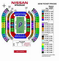 Titans Stadium Seating Chart Tennessee Titans Psl Marketplace Buy Amp Sell Tennessee