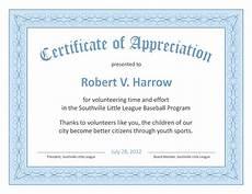 Free Certificates Of Appreciation Templates Certificate Templates