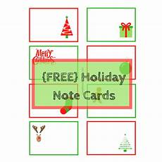 Printable Christmas Note Cards Holiday Note Cards Free Printable Simple Review